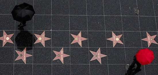 Avenue of stars of Hollywood